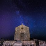 Madliena Chapel, Ħad-Dingli, Malta during the night under the Milky Way